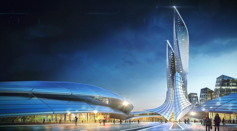 Futuristic Buildings D Model